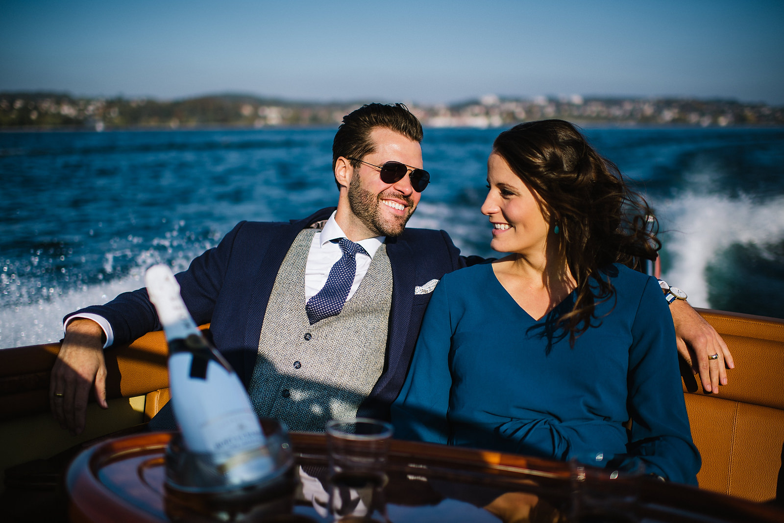 Fotograf Konstanz - Classic Boat Pegiva Shooting Bodensee Hochzeit Erlebnis EFP 03 - Couple Shooting on Lake Constance with a Pegiva motor boat  - 3 -